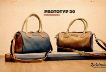 Zirkeltraining™ Prototyp 20 / Damenhandtasche // Ladies Handbag  Mülheimer Schick – die feine Damen von Welt trägt jetzt auch gebrauchtes Sportgeräte-Leder und alte Turnmatte. Mit schicken Henkeln aus Langhanfseilen und einem abnehmbaren Leder-Schultergurt.
