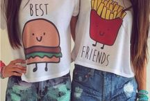 Crop top burger and fries❤️