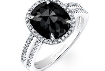 Black stone rings