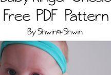 Wykroje niemowlęce -  body, śpiochy, rampersy, kaftaniki, baggy itp.