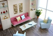 1:6 scale living rooms/parlors