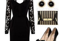 outfit-black dresses