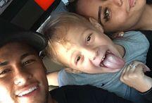 Rafaella , Davi Lucca i Neymar JR