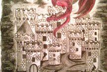 Drachen / Bleistiftzeichnungen