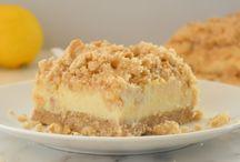 Creamy lemon cheese cake yum.