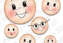 Carinhas e caretas / Toda expressão do rosto e caras