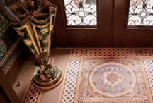 Interior of brownstone west 3rd / encaustic period tiles