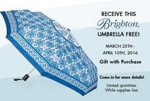 Events  / With a single same-day Brighton purchase of $100 or more receive your very own Caprice Umbrella absolutely FREE!* ($25 Retail Value)