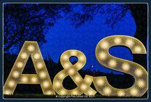 Illuminated Wedding Letters