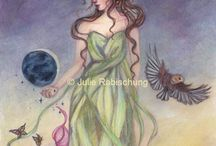 My paintings and illustrations / I'm creating fantasy (fairy, mermaid,dragons..) nature, pagan and mythology inspired paintings and illustrations in watercolor, colored pencils, acrylic ..Welcome in my enchanted world :) More art on my facebook page:  https://fr-fr.facebook.com/lorellyneart/