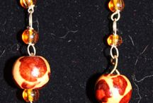 Earrings / Unique and one of a kind earrings from artist Michele WIlson at http://artbymichelewilson.com/earrings.htm / by Michele Wilson