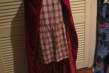 Red Riding Hood / Finished Red Riding hood cosplay, the bulk of the costume was done using thrift store finds.