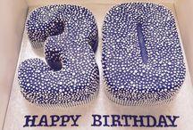 Number Thirty Cake Designs