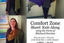 Comfort Zone Shawl KAL / Shawl design by Danielle Comeau for knit a long.