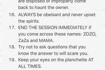 Ouija rules to follow