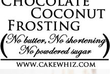Frostings und Icings - Darf es etwas mehr sein? / Cremes für Torten, Kuchen und Cupcakes.