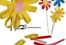 fleurs papier crepon