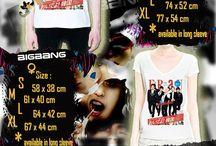 T-Shirt BigBang / Kumpulan T-Shirt dengan berbagai macam gambar BigBang