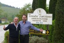Steve Perillo in Tenuta Torciano winery / Surprise Visit of Steve Perillo, Diana Rodriguez and Sabrina Massari in Tenuta Torciano Winery in San Gimignano! www.perillotravel.com