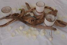 στολισμός γάμου δεξίωσης, τραπέζι..Wedding centerpieces driftwood / δεξίωση γάμου τραπέζι με θαλασσόξυλα (ξύλα θαλάσσης) ..centerpieces driftwood