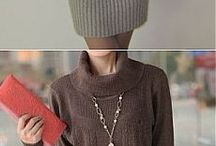 вязание платья туники