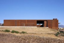 """Santa Ynez Residence / This home for an artist and lawyer fulfills the owners' desires for a compound that responds to the area's hot summers and cold winters. FFP created a scheme based on a grid of 25 squares, combining the architects' interest in the """"square"""" and """"box"""" forms with the owner's square paintings. Three distinct zones for living, sleeping, and working are organized around a central courtyard that extends the living space outdoors when weather permits."""