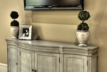 TV console / by Kelly Johnson