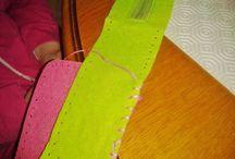Bricolage de Loanne du 5 février / Reportage photos sur la fabrication d'une trousse rectangulaire par Loanne, pour ses billes.