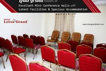 Lotus Grand - Conference Room / For a small gathering or #Birthday #Parties, visit the Lotus Grand Mini #Conference rooms. Cosy halls with excellent service!