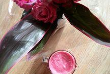 Vandaag is roze - smoothies / Allemaal roze/roodtinten smoothies