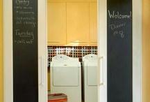 Laundry room barn doors