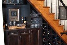 bar/staircase area