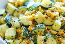 Summer cucumber salads