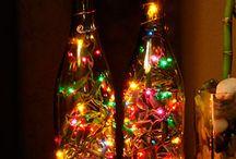 Decorações de Natal / Várias decorações, com velas, flores  e outras