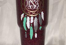 Custom hand decorated cups