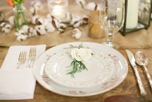 *Wedding place settings ideas * / Flowers for the table
