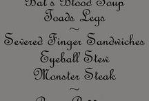 Halloween menu activity