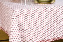 Red Table Cloth /  Red Table Cloth - Decorative Tablecloths - Elegant Table Linen / by Attiser