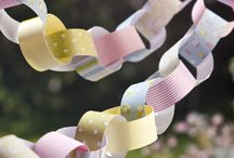 Bunting and paper chains