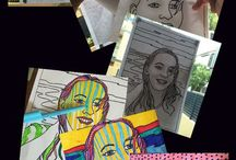 Year 7 Art Portraits