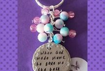 Keyrings & Bracelets / Hand-stamped keyrings and bracelets