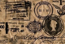 stamps and old paper money and coins / by lady rosa