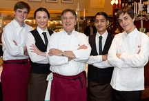 RB joins Boris Johnson launch the apprenticeships scheme / On Wednesday 6 March, Boris Johnson, the Mayor of London, joined Raymond Blanc at Brasserie Blanc in Threadneedle Street to celebrate the launch of the Apprenticeships Scheme