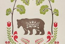 Bear & folk art stuff