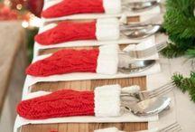 aankleding tafel kerst
