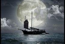 night / moon / luna / anoitecer