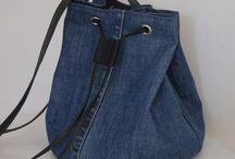 Jeanstasche mit ringen