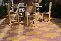 Hexagonal Encaustic Cement Tile Floors / Antique and modern hexagonal tile floors made from handcrafted encaustic cement tile.