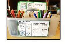 Kinder Literacy Stations