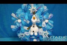 Corona de muñeco de nieve
